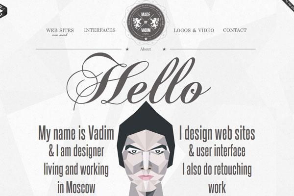 Profile Page in Portfolio Web Design