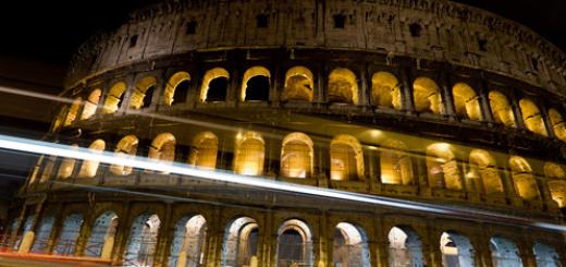 amphitheater at night