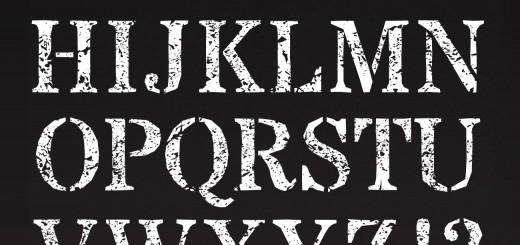 chalk typography
