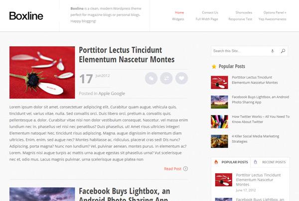 Boxline WordPress Theme