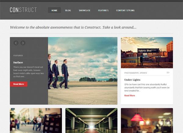 Construct WordPress Theme
