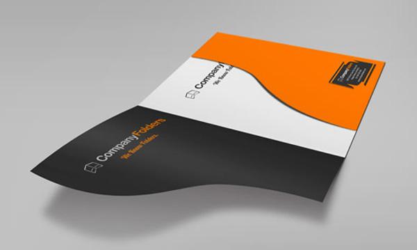 custom die cut folder