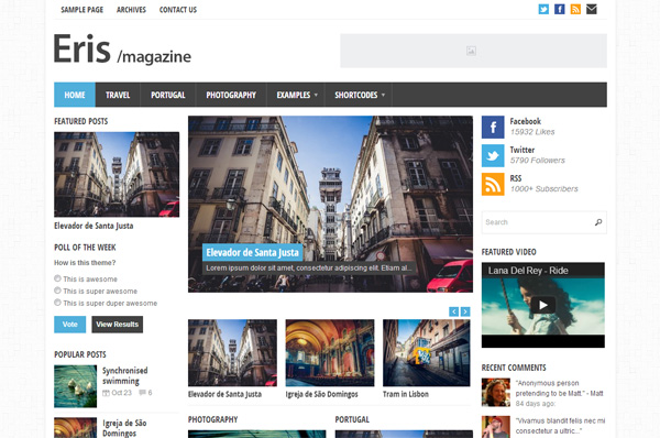 Erin Magazine WordPress Theme