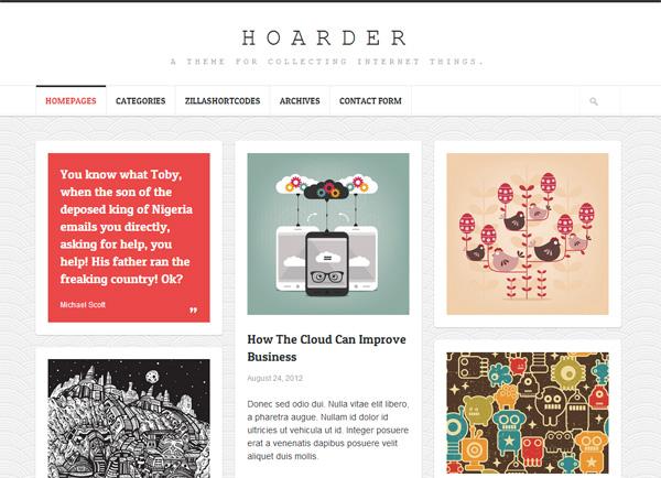 Hoarder WordPress Theme
