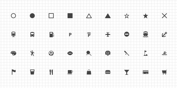 Free Web Cartography Icons