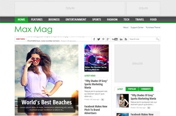 Max Magazine WordPress Theme