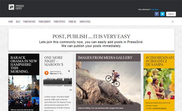 Pressgrid WordPress Theme