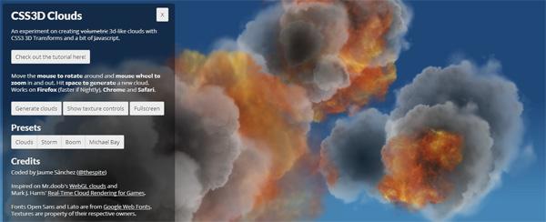3D Lighting Storm Clouds