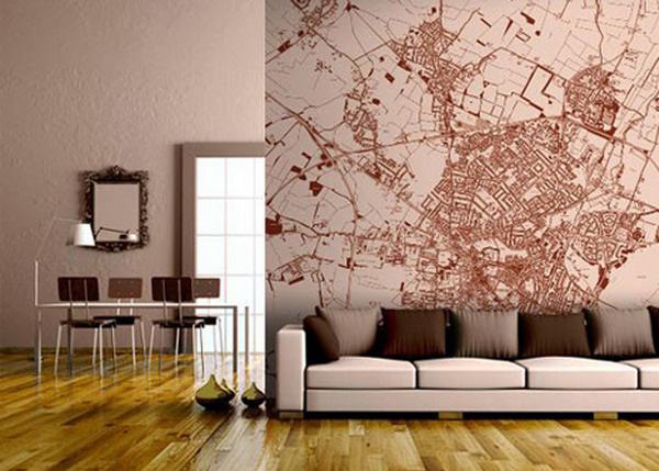 Custom Map Wallpaper