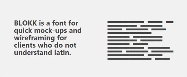 Blokk Free Font for Mockups