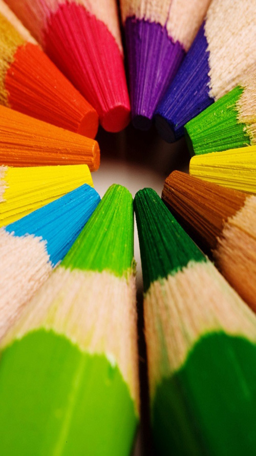 Colorful Crayons Wallpaper