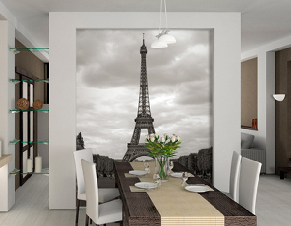 Elegant Eiffel Tower interior wallpaper