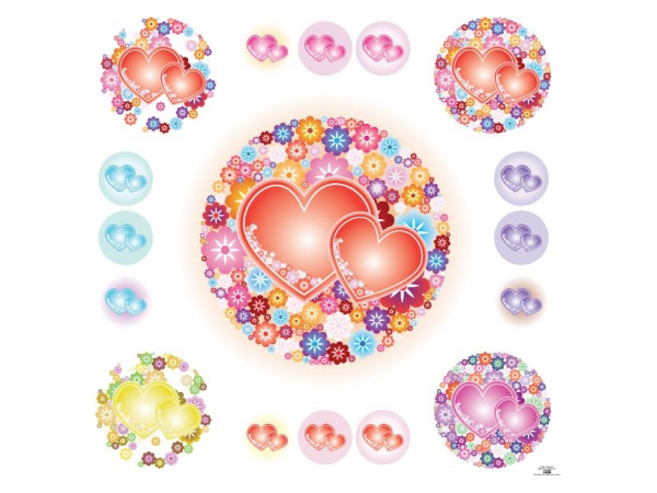 Flowery heart illustration