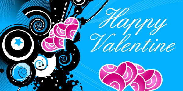 Blue Valentine's Day Greeting Card