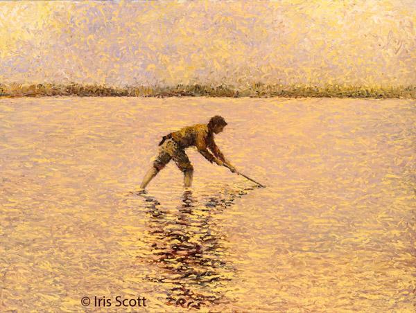Iris Scott Finger Painting