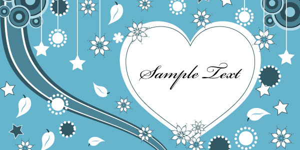 Lovely Vector Greeting Card