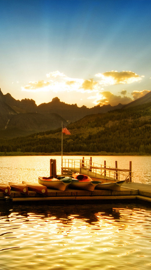 Glacier National Park Sunset