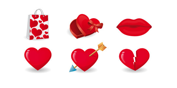 Valentine's Day Free Vector Icons