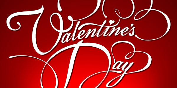 Valentine's Day vector typography