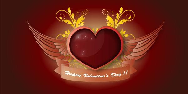 Angelic Heart Vector
