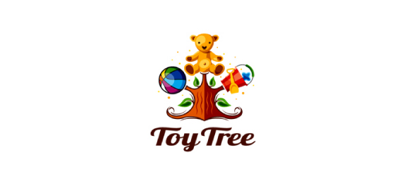 Toy Tree, the happy bear Logo