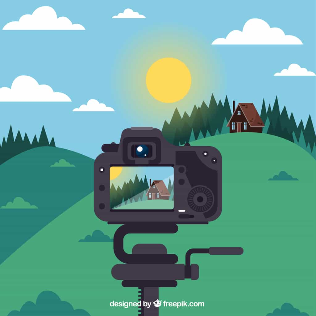 taking picture illustration