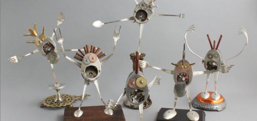 scrap material sculptures