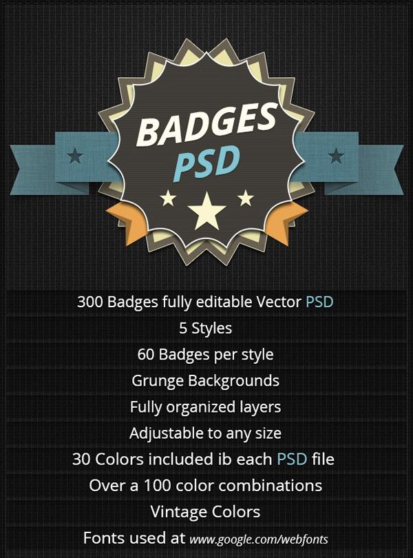 PSD Badge promo