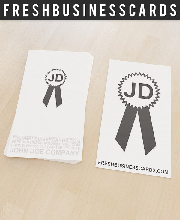 Badge business card template