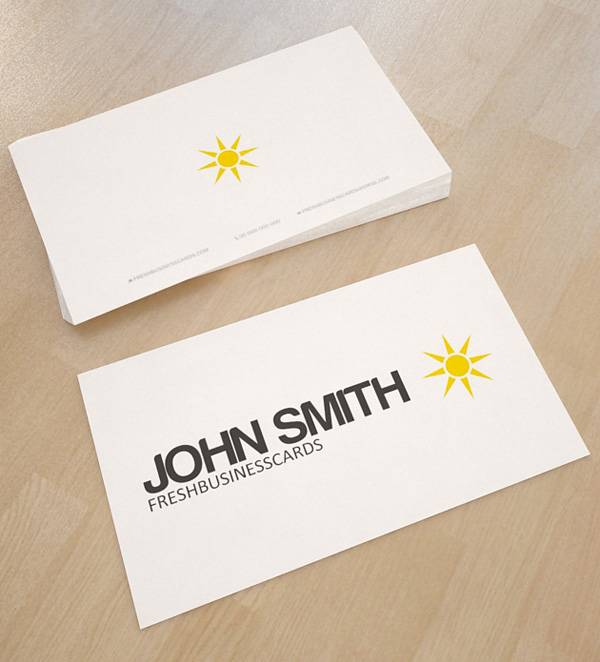 Minimal star business card template