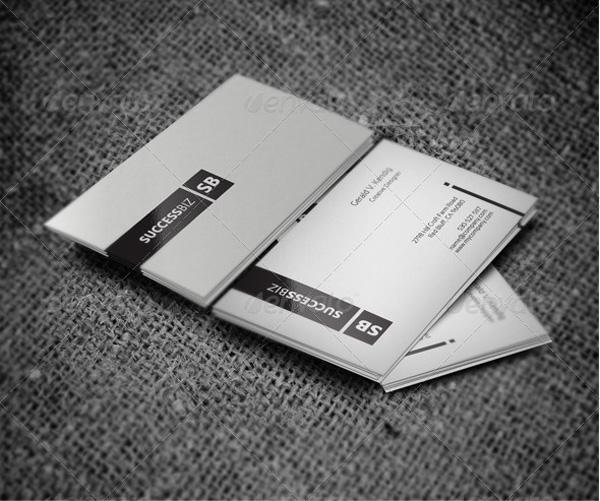 Minimal premium business card template