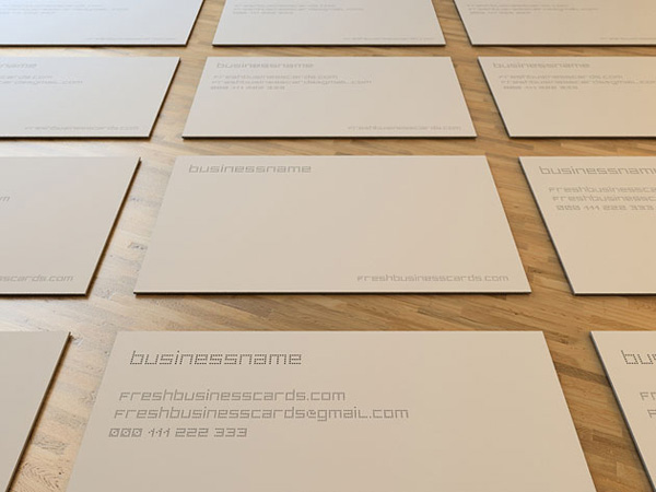 Dot minimal business card
