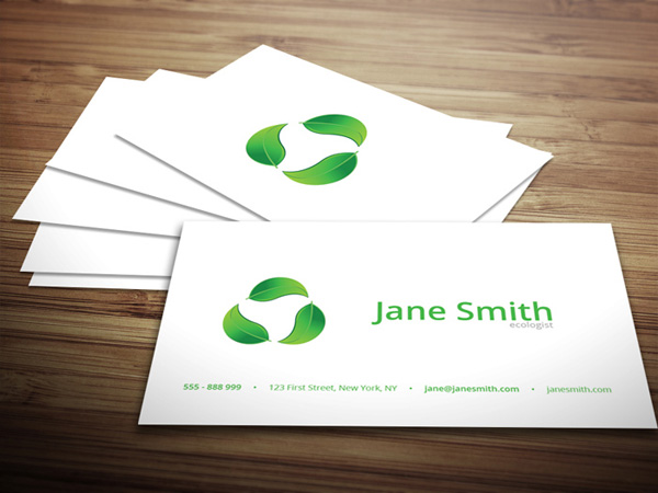 Eco minimal business card template