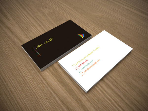 Minimal white and brown business card template