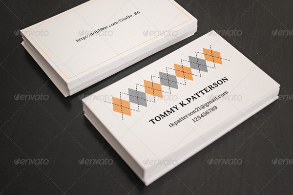 Minimal retro business card template