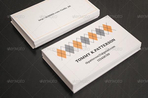 Minimal retro business card template
