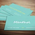 Menthol Minimal Business Card Template
