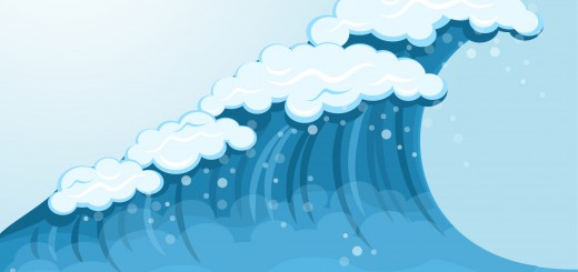 cartoon water wave