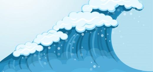 cartoon water wave