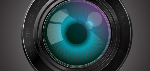 Camera lens with an eye