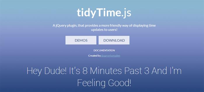 tidyTime JS