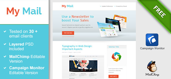 40 Cool Email Newsletter Templates For Free – Free Email Newsletter Templates Word