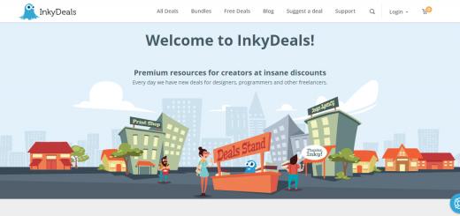 Inky Deals Homepage