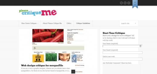 Please Critique Me Homepage
