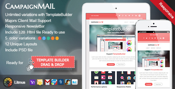 40 cool email newsletter templates for free campaignmail pronofoot35fo Images