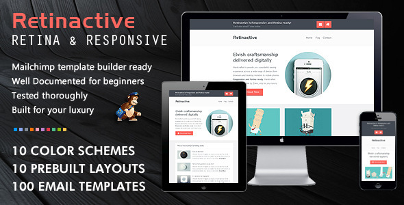 40 cool email newsletter templates for free retinactive email template pronofoot35fo Images