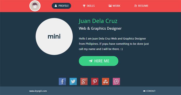 Flat Design Mini-Portfolio