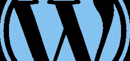 lightblue WordPress Logo