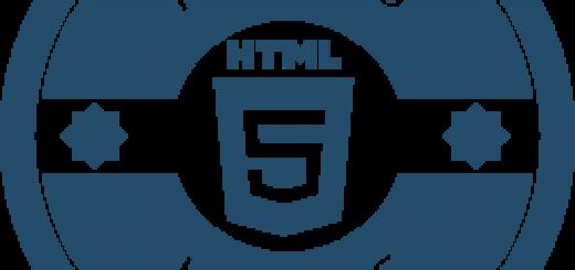 HTML5 logo in blue