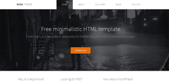 50 best free html5 website templates preview download